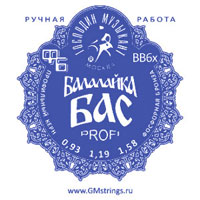 Струны для балалайки бас GM Strings BB6x PROFI